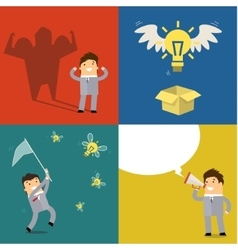 Business concept of idea vector image