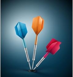 Three darts vector image vector image