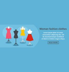 woman fashion clothes banner horizontal concept vector image