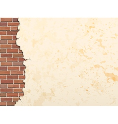 concrete wall and brick 380 vector image