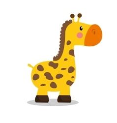 cute giraffe baby icon vector image