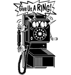 Give us a ring vector image vector image