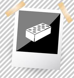 hollow brick vector image vector image