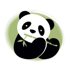 Panda bear and bamboo vector image