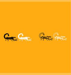 scorpion it is white icon vector image
