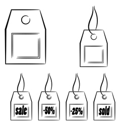 Set of graphic labels eps10 vector image