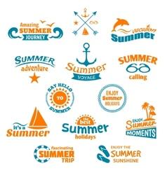 Summer element label vector image