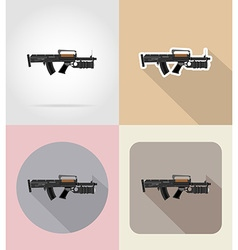 Weapon flat icons 09 vector
