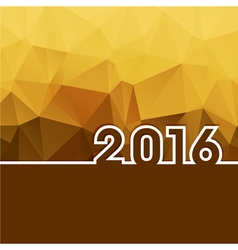 2016 New Year on golden polygonal background vector image