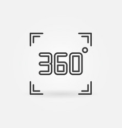 360 degrees concept icon in thin line style vector