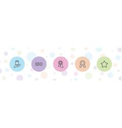 5 guarantee icons vector