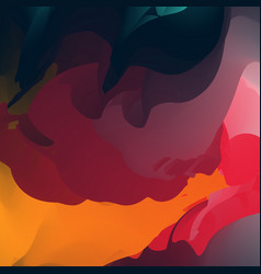 Abstract creative fluid multicolored blurred vector