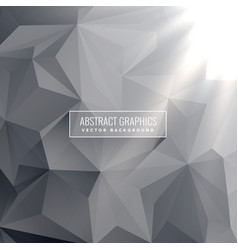 Abstract gray triangle background design vector