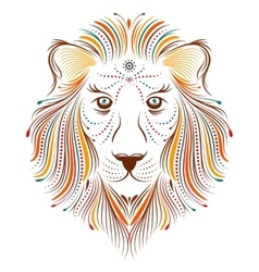 abstract lion on white background vector image