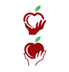 Apple picking clip art logos vector