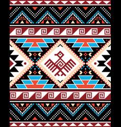 Aztec triabl geometric seamless pattern vector