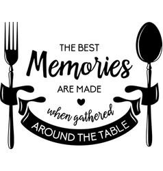 Best memories typography inspirational quotes vector