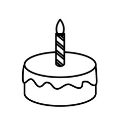 Birthday cake isolated vector