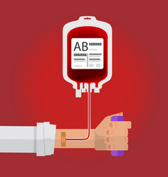 blood donation human donate blood for save the vector image