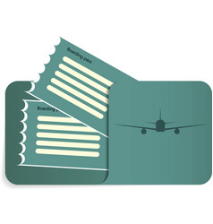 Boarding pass inside of blue envelope vector
