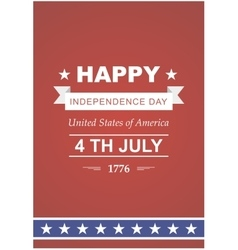 Bright to the Independence Day vector image