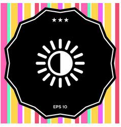 brightness symbol icon vector image