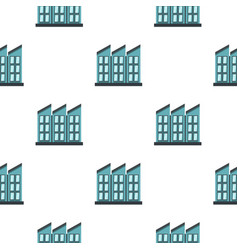 Building pattern flat vector