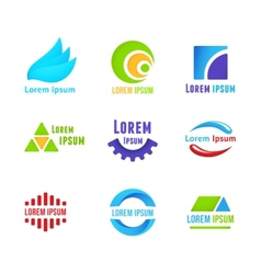 Business icons templates vector image