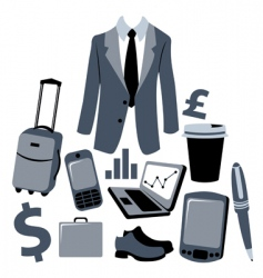 business man graphics vector image