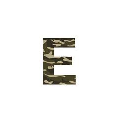 camouflage logo letter e vector image
