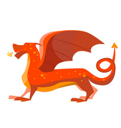 cartoon color fantasy animal dragon vector image