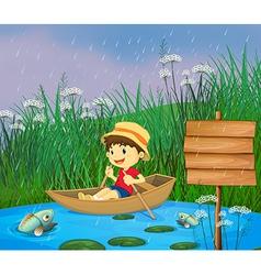 Cartoon Riverboat Boy vector