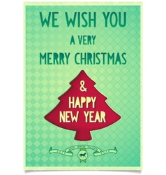 Christmas vintage poster with wishes vector