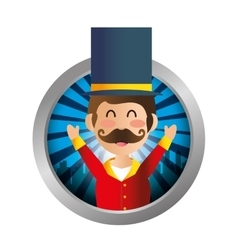 Circus ceremony master icon vector image