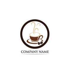 coffee cup logo template icon vector image