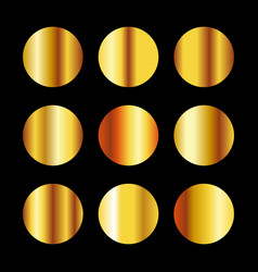 Collection gold color palette vector