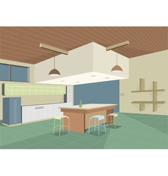 Colorful kitchen layout vector
