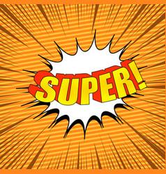comic page super concept vector image
