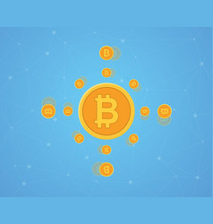 Design background bitcoin style collection vector