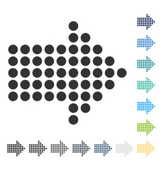 Dotted arrow right icon vector