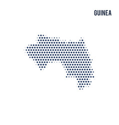 dotted map of guinea isolated on white background vector image