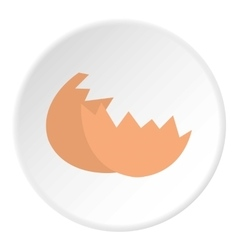 Eggshell icon flat style vector