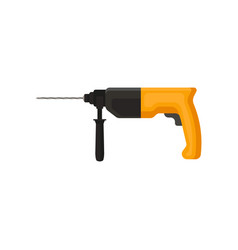 electric hammer drill with orange handle power vector image