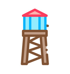 fire tower with water icon outline vector image