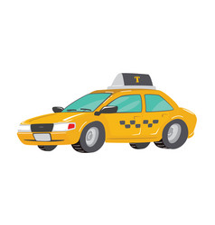 flat high quality city service car taxi toy taxi vector image