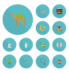 Flat icons malay arabian new lunar and other vector
