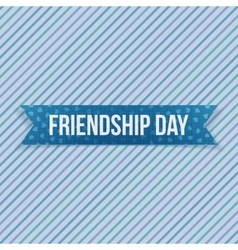 Friendship day greeting blue banner vector