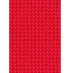 Geometric red background vector image