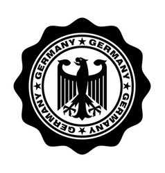 Germany stamp vector