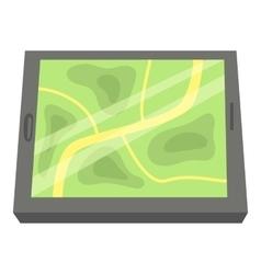 GPS map icon cartoon style vector